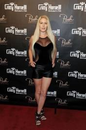 Heidi Montag sparkles on the red carpet of Crazy Horse III's three-year anniversary party.