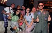 "Jenni ""JWoww"" Farley and her friends dress as nerds for Halloween. Photos: David Becker/WireImage"