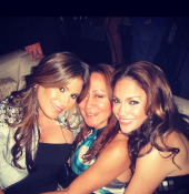 Blast from the past with my girls JLo and Anna. –Loren Ridinger