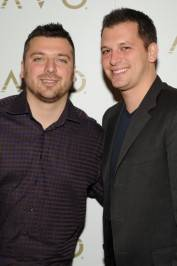 "Chris and Albie Manzo of ""The Real Housewives of New Jersey"" at Lavo."