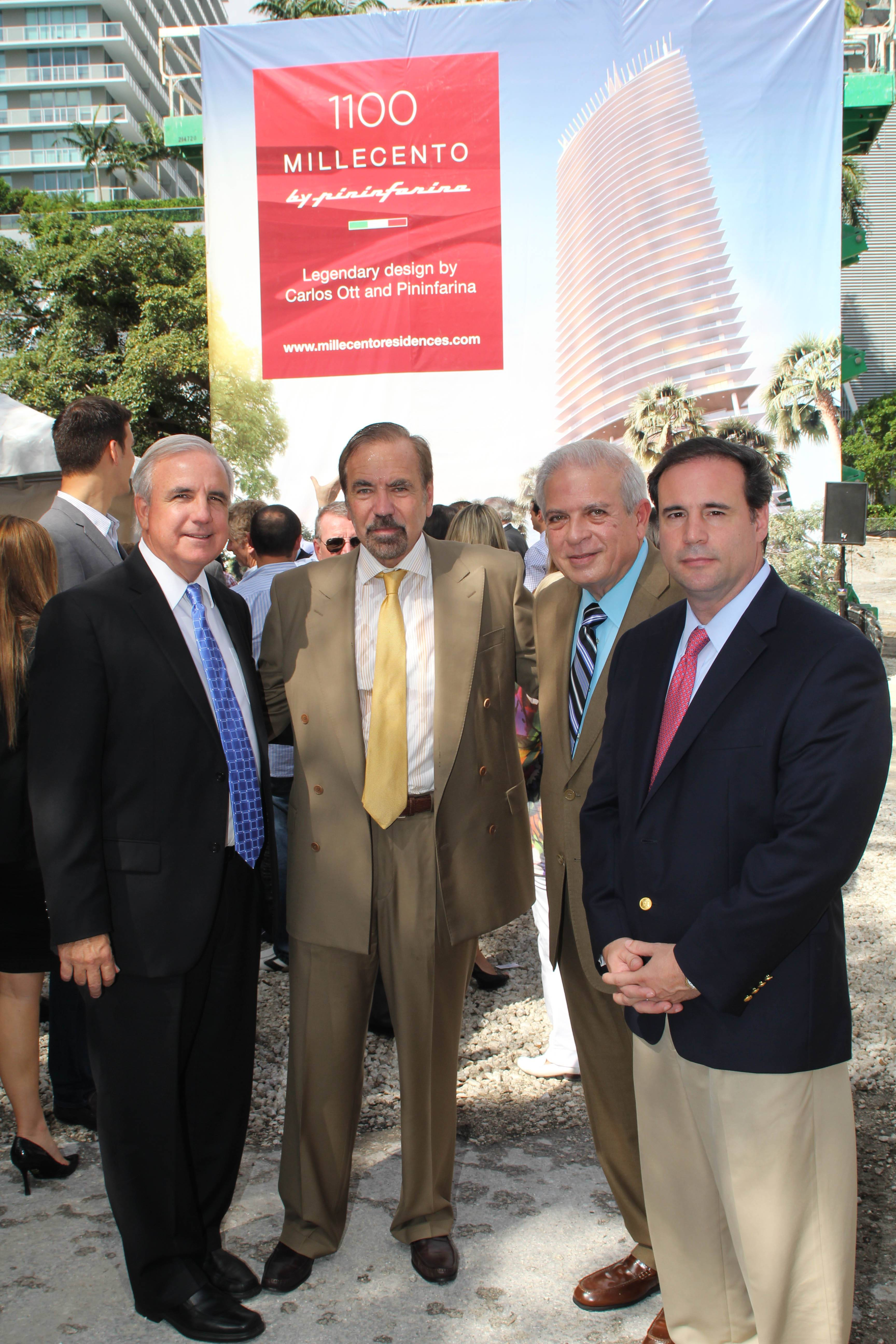 Mayor Gimenez, Jorge Perez, Mayor Regalado, Commissioner Carollo