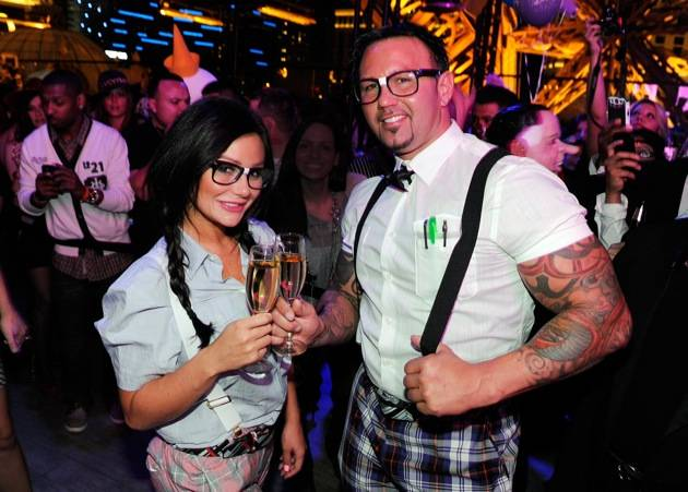 Jenni 'JWoww' Farley Celebrates Halloween With Fiancee Roger Mathews In Las Vegas At Chateau Nightclub