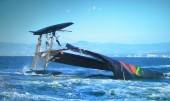 Oracle Spithill capsized