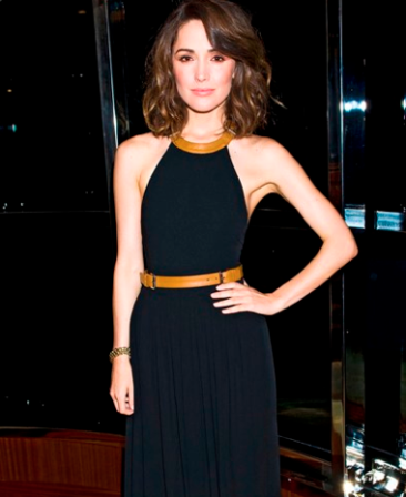 Rose Bryne is an absolute Showstopper in my leather strap gown from the Pre-fall 2012 collection.—Michael Kors
