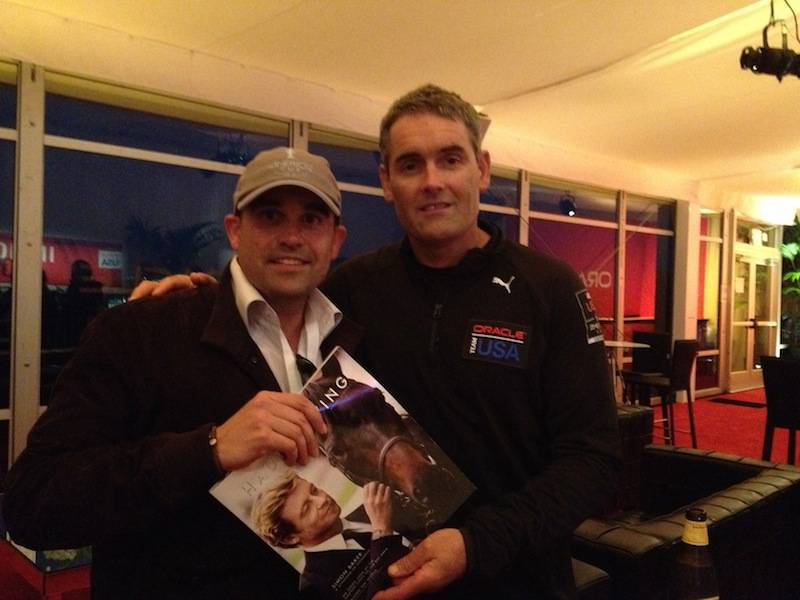 Seth Semilof with Oracle Team USA CEO:skipper Sir Russell Coutts