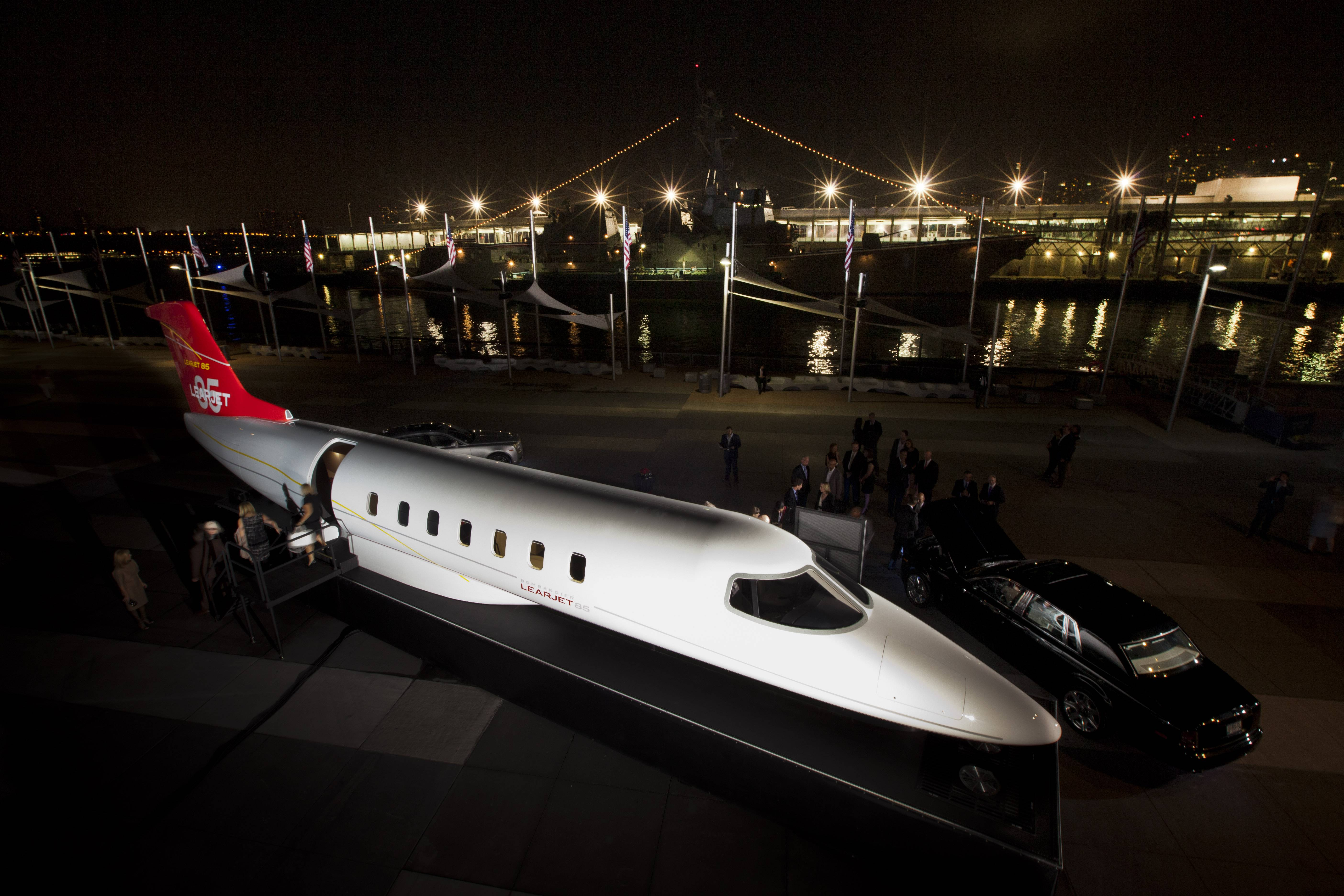 Haute Event: Flexjet and Bombardier Premiere Learjet 85 At The Intrepid