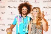 Redfoo and Victoria Azarenka on the red carpet at Marquee. Photos: Brenton Ho/Powers Imagery