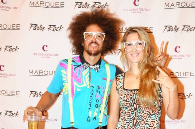 Victoria Azarenka and Redfoo_Marquee Red Carpet