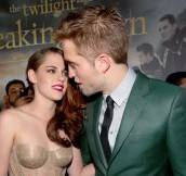 Reunited Couple Robert Pattinson + Kristen Stewart Attend World Premiere of 'The Twilight Saga: Breaking Dawn – Part 2′ in LA