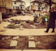 Surveying damage on Staten Island at Tottenville today. —Mayor Mike Bloomberg