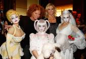 Carrot Top with the cast of Zarkana.
