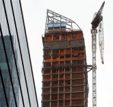 Luxury Building One57's Crane Secured in New York City
