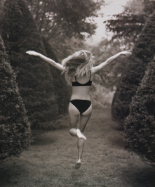 Photo blast from the past. Running Free! —Heidi Klum
