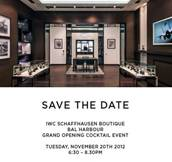 IWC Schaffhausen Boutique Opens Tonight in Bal Harbour