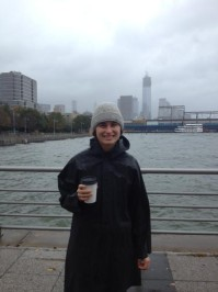 This from West Side Hwy before the storm. My heart goes out to all those who lost their homes or worse during Sandy. —Lauren Bush