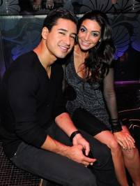 Mario Lopez and Courtney Mazza at The Bank.