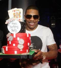 Nelly with his birthday cake. Photos: The Light Group