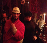 Me & the black panther Queen happy Halloween :) I am an old Boxer FYI haaaaa. —Swizz Beatz