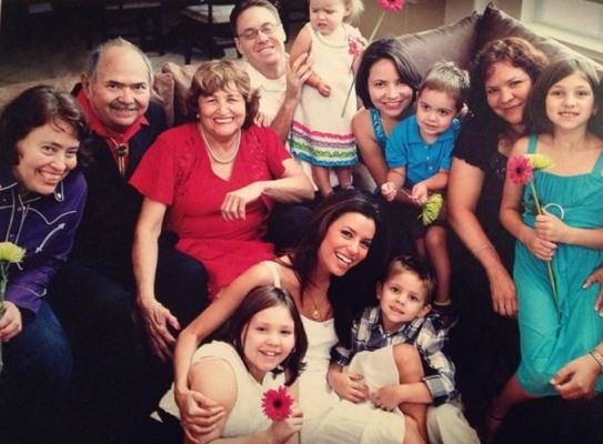 Merry Christmas and Happy Holidays to everyone! From my family to yours! —Eva Longoria