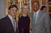 Archie Drury with Karolina Kurkova and Ray Allen