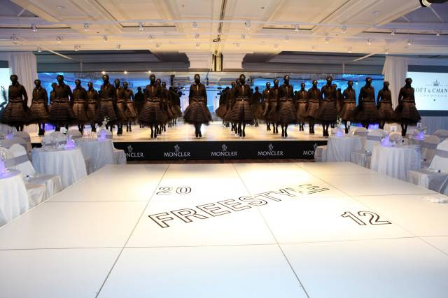 2012 FREESTYLE title sponsor Moncler's fashion installation was the centerpiece of the annual après ski event.