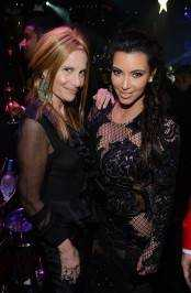 Cynthia Bussey and Kim Kardashian celebrate New Years at 1OAK Nightclub at the Mirage. Photos: Denise Truscello/WireImage