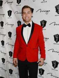 Lance Bass arrives for the New Year's Eve countdown at 1 OAK Nightclub,
