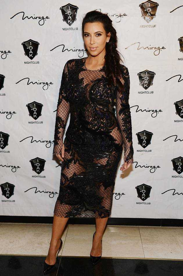 Kim Kardashian Hosts The New Year's Eve Countdown At 1 OAK Nightclub At The Mirage In Las Vegas