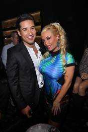 Mario Lopez and Coco Austin at Gallery Nightclub.