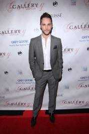 Josh Strickland on the red carpet at Gallery Nightclub.