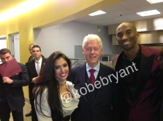Great event with President Clinton for renovation of Step Up on Vine! —Kobe Bryant