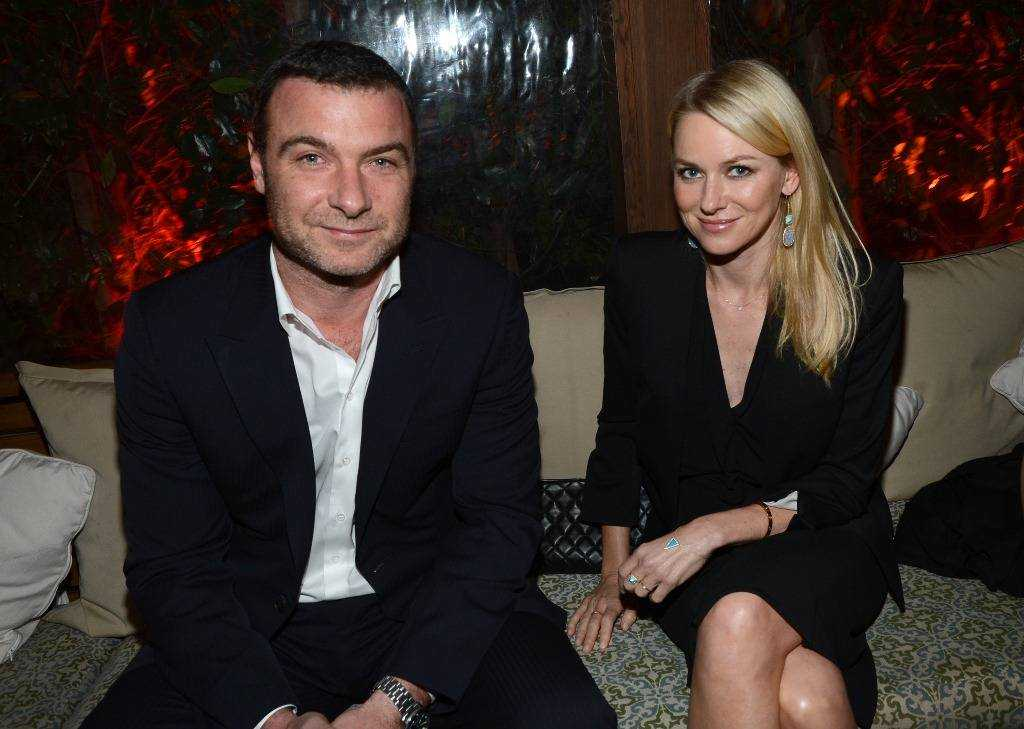 Liev Schreiber & Naomi Watts at the Audi pre-Golden Globes party