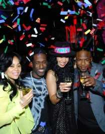 Jordin Sparks and Boyz II Men toast the new year at Tabu. Photos: Bryan Steffy/WireImage