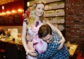 Holly Madison and Pasquale Rotella throw their baby shower at Meatball Spot. Photos: Denise Truscello/WireImage/www.denisetruscello.net