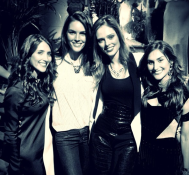 With the beautiful girls behind Dannijo and my bud Hilary Rhoda.