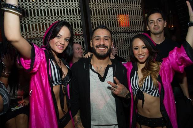 UFC fighter Francisco Rivera celebrates his UFC 156 victory at Lavo.