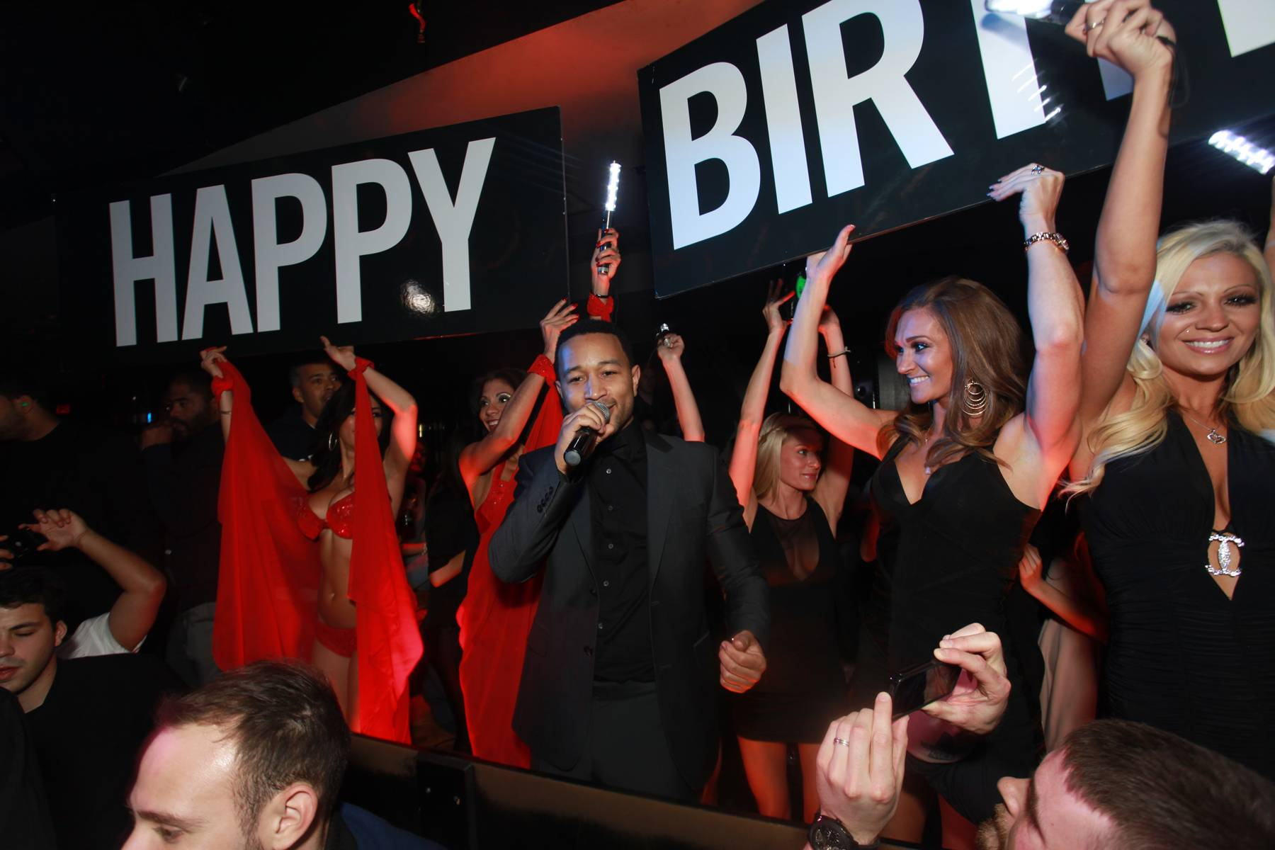 John Legend performs for the one-year anniversary of 1 OAK.