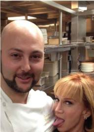 LAVO Chef Massimiliano Campanari and Kathy Griffin