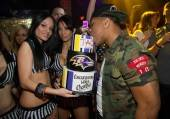Ray Rice with his cake at Tao.
