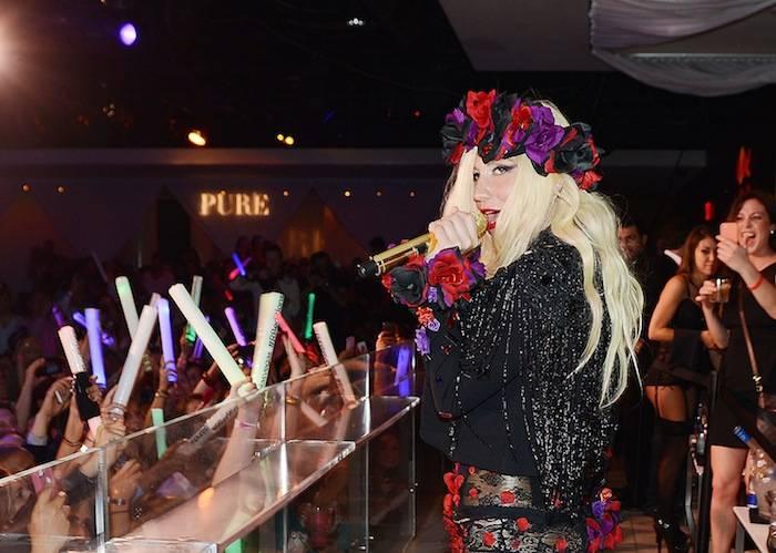 Ke$ha performs at Pure Nightclub. Photos: Denise Truscello/WireImage