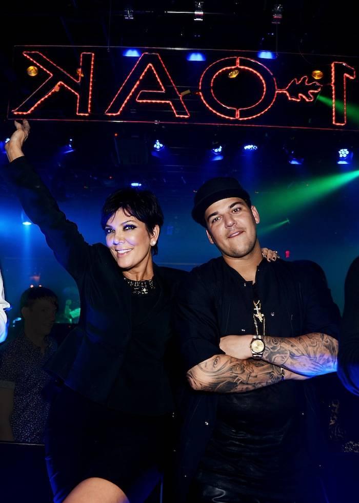 Rob Kardashian celebrates his 26th birthday with his mom Kris Jenner at 1 OAK Nightclub at the Mirage. Photos: Denise Truscello/WireImage