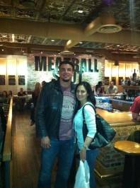 Frank Mir and his wife at Meatball Spot. Photos: Meatball Spot