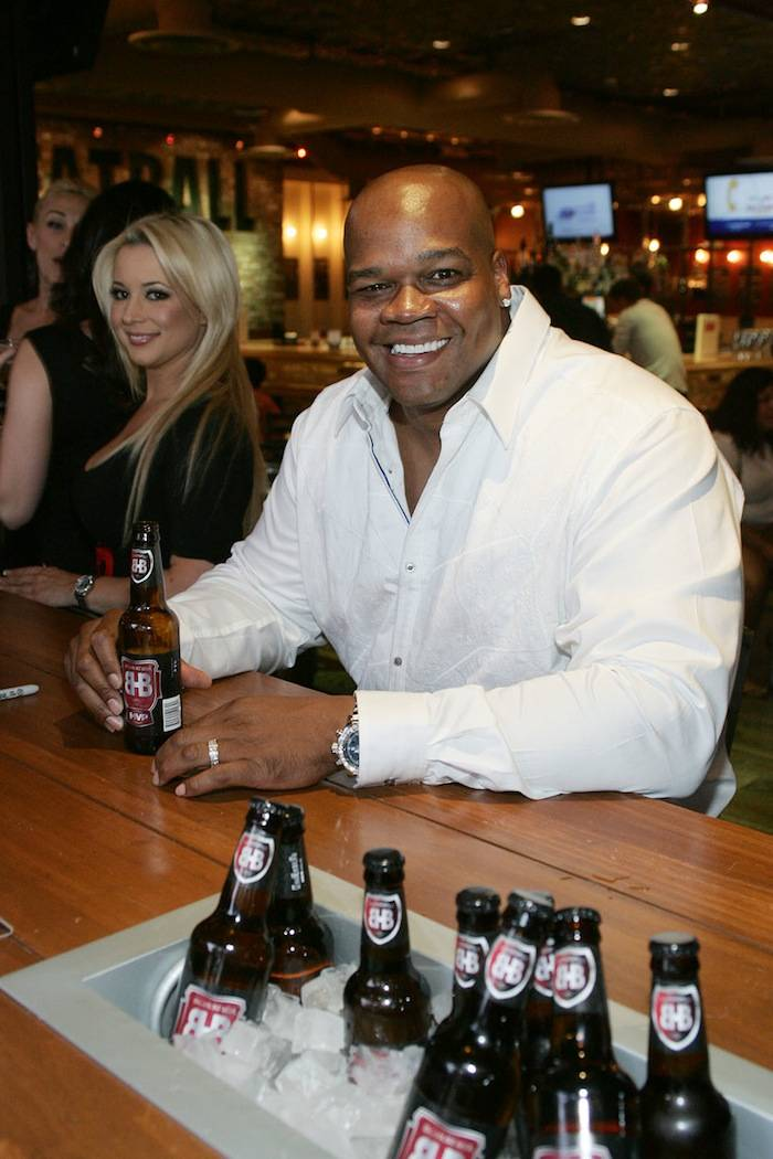 Frank Thomas with Big Hurt MVP Beer at Meatball Spot. Photos: Jimmy Atoa