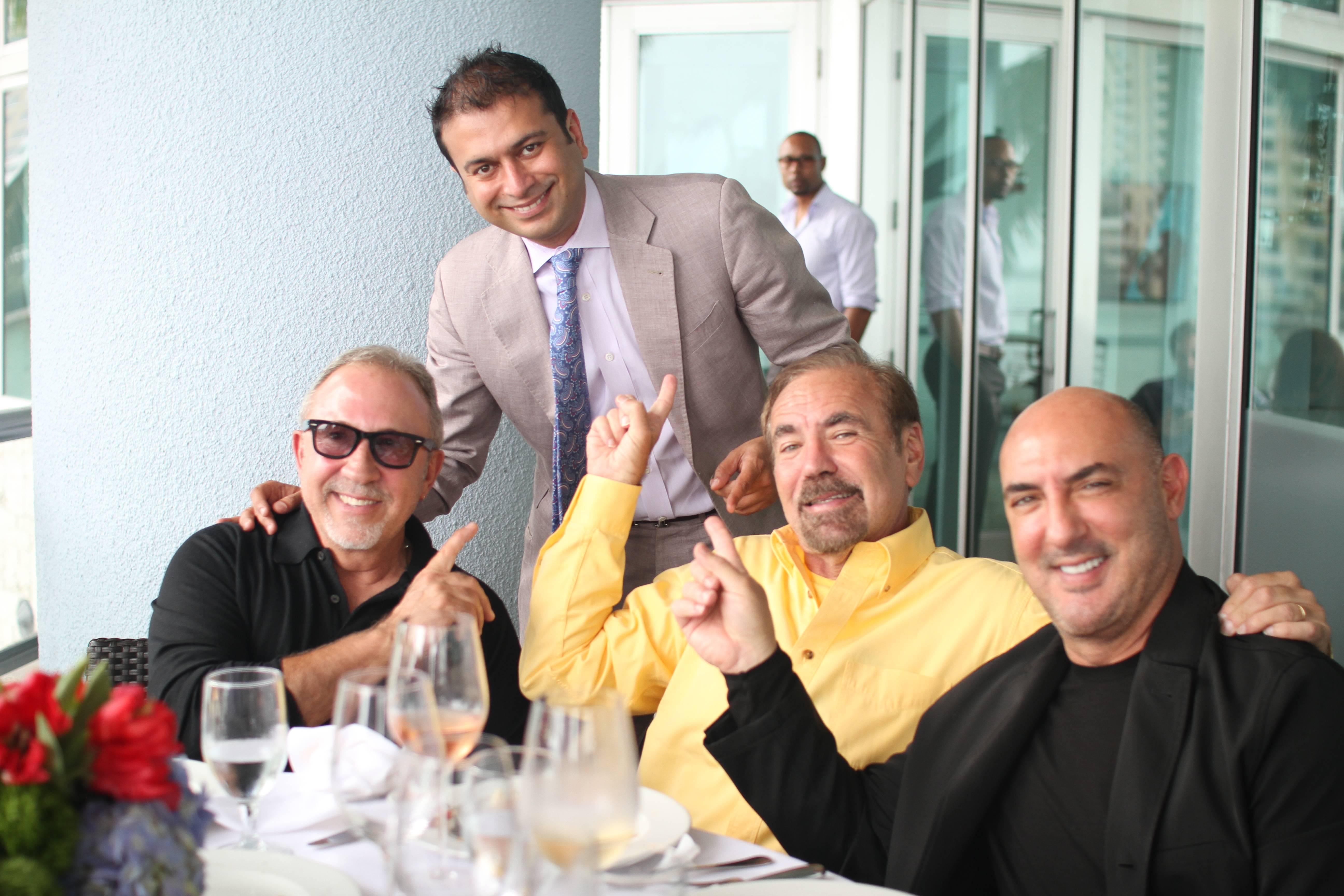 Emilio Estefan, Kamal Hotchandani, Jorge Perez and Gary Nader