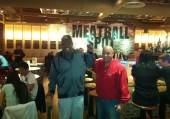 Leon Spinks and Joe Cortez at Meatball Spot