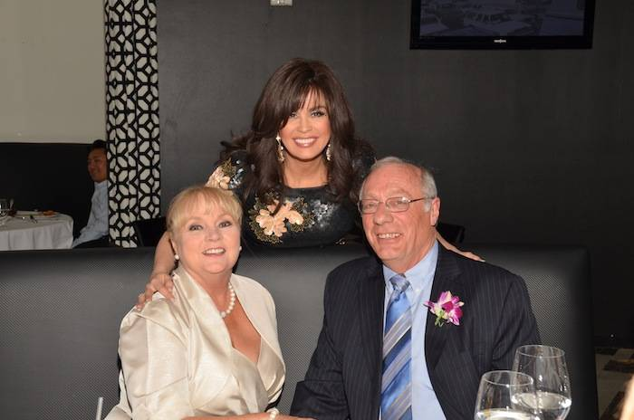Marie Osmond surprises newlyweds at Center Cut Steakhouse at Flamingo Las Vegas. Photo: Cashman Photo