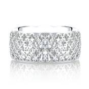 BIRKS MUSE Collection, Wide Mesh Band, in 18kt White Gold