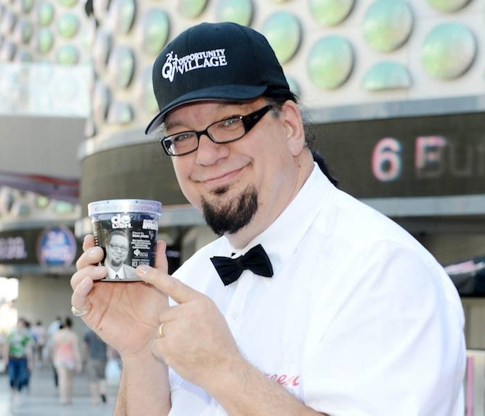 "Penn Jillette launches his Special ""Celebrity Apprentice"" ice cream flavor at Walgreens on Las Vegas Strip. Photos: Denise Truscello/WireImage"