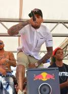 Haute Event: Chris Brown and Karrueche Tran at the Palms Pool
