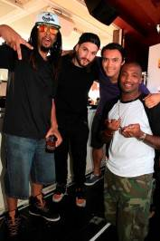 Steve Angello, opening deejay Tony Arzadon and Shaun Phillips